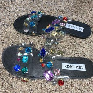 Steve Madden jewel sandals